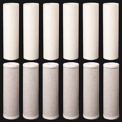 """Reverse Osmosis Replacement Filters 2.5"""" x 9.75"""" Sediment & CTO Carbon Block 12p"""
