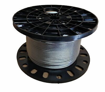 """3/16"""" 1x19 Stainless Steel Cable Railing Wire Rope Grade 316 (500 feet)"""