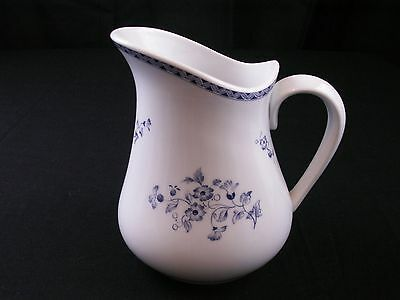 Christineholm Fine China Pitcher CPR6  Blue Flowers on White Porcelain