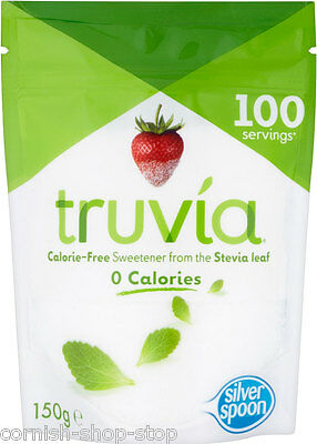 TRUVIA CALORIE FREE SWEETENER...GRANULATED, JUST LIKE REAL SUGAR! 150g POUCH