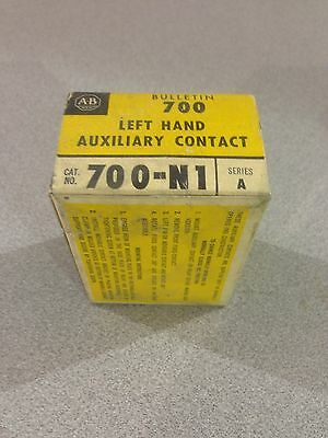 New In Box Allen-Bradley Left Hand Auxiliary Contact 700-N1 Series A  (D17)