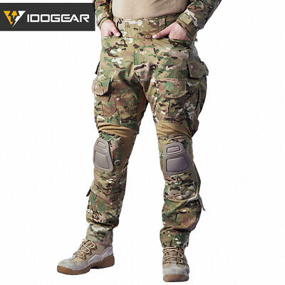 IDOGEAR G3 Combat Pants w/ Knee Pads Airsoft Tactical Military Trousers MultiCam