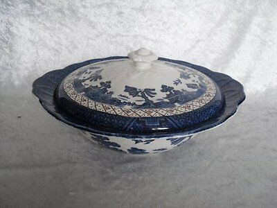 **SUPERB** Booths 'Real Old Willow' Lidded Tureen (A8025)