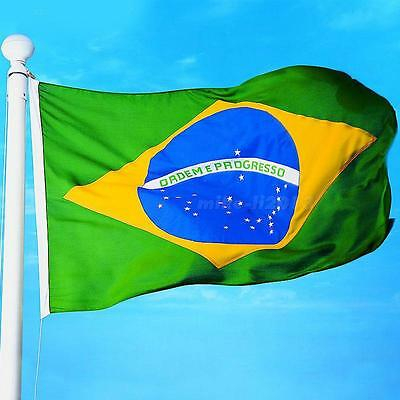New large 3'x5' Brazilian Flag the Brazil National Flag BRA MKLG