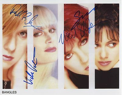 The Bangles SIGNED Photo 1st Generation PRINT Ltd 150 + Certificate /2