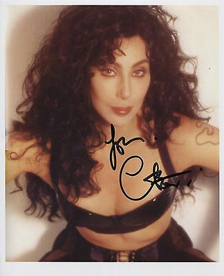 Cher (Singer) SIGNED Photo 1st Generation PRINT Ltd, No.'d + Certificate / 1