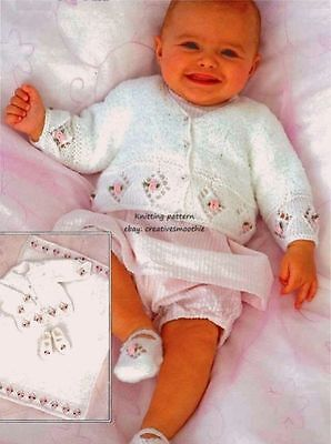 (688) Baby/ Girls Pretty Cardigans, Blanket, Shoes Dk Knitting Pattern, 16-26''