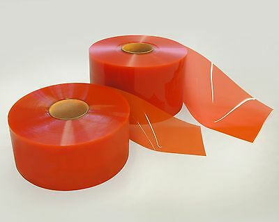 PVC Safety ORANGE Flat Vinyl Strip Door Material, 300' per roll