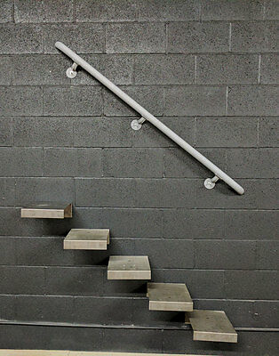 6 to 8 Foot | Steel Pipe Style Wall Rail | Stair Railing | Custom Made To Order