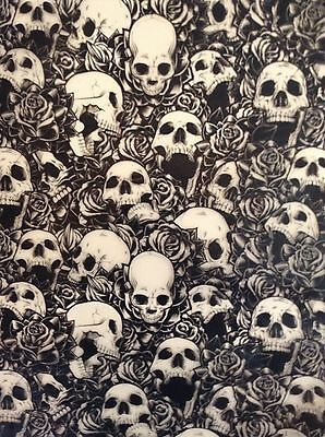 Hydrographic film Skulls and roses water transfer printing film HugasLTD
