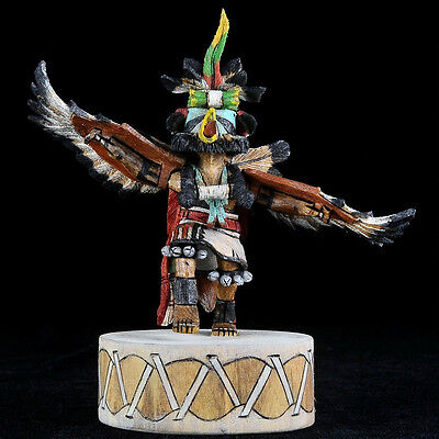 Hopi Eagle Dancer Kachina Doll Native Collectible By Milton Howard