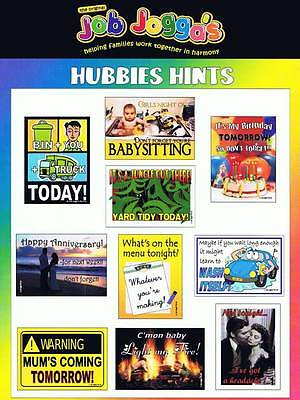 Reusable Magnetic Chore System Job Joggas NEW Hubbies Hints! 10 magnets