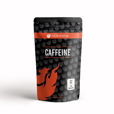 Caffeine 200mg x 120 Tablets - Energy, Pre Workout and weight Loss