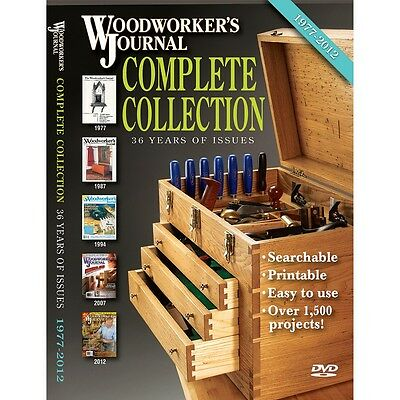 Woodworker's Journal Complete Collection DVD-ROM (1977-2012) - Media   Woodwo...