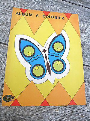 Vintage Antique old French 1930/30s coloring book children/ unused