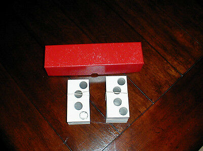 100 2x2 Cardboard 2 Hole Penny Cent Coin Holders Flips 2x2x9  Red Storage Box