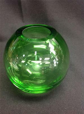 Tarnow Clear Green Glass Vase Made in Poland
