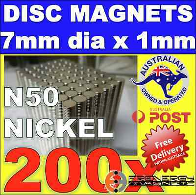 150X DISC Neodymium Rare Earth Magnets N50 7mm X 1mm WARHAMMER