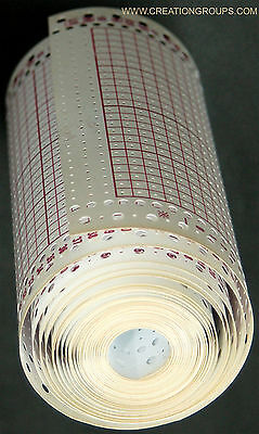 5 Meter Blank Punchcard Roll 15P 24Stitch + Snaps for Brother Singer KH860 SK280