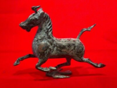 Old Chinese Bronze Galloping Horse on Flying  Bird Swallow Statue Sculpture