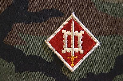 Authentic RARE US Army 18th Engineer Brigade Dress Color Military Patch