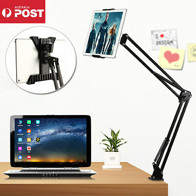 Folding Bed Desk Mount Holder Stand 360 Rotating For iPad Mini Samsung Tablet PC