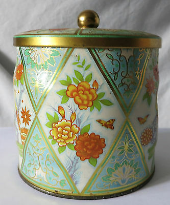Vintage Floral Tin With Birds And Butterflies Designed By Daher