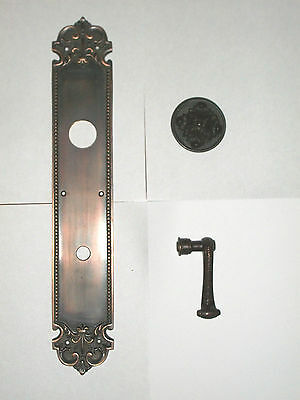 Huge Brass Florentine Door Knob Back Plate With Door Knob and  Lever