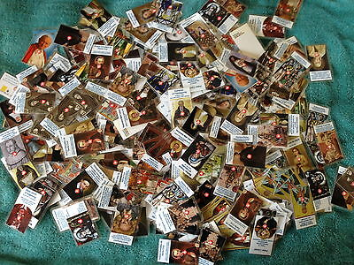 50 relic cards various saints mix collection gift prayer card saint blessed SET