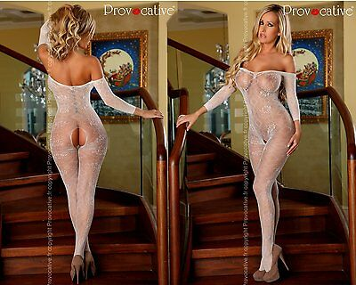 "Braut Bodystocking ""PR4432"" Netz-Catsuit ouvert Damen-Body von Provocative"
