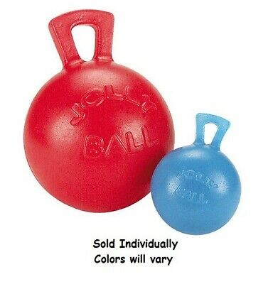 """Rubber Dog Toy Tug-N-Toss Jolly Ball Small 4 1/2"""" Fetch Toys for Horse Play"""
