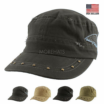 Womens Mens Unisex Authentic A Kurtz Stud Military Army Cotton Baseball Cap  Hat 21743f1f0a17