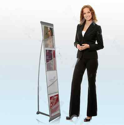 A4 Portable Folding Exhibition Brochure Display Stand With Carry Bag