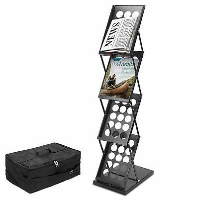 A4 Portable Folding Exhibition Brochure Display Stand