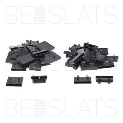 63mm Bed Slat Holders/ Side Caps for Side Rails on Metal Tubular Bed Bases