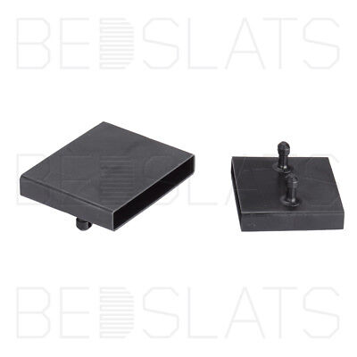 63mm Bed Slat Holders/ Centre Caps for Beech Sprung Bed Slats - 2 Prongs