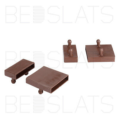 53mm Sprung Bed Slat Holders/ Caps for Side Rails and Centre Rails - 2 Prongs