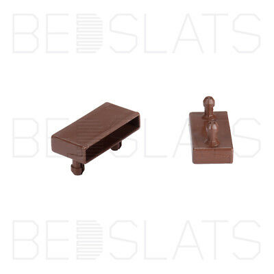 Replacement 53mm Bed Slat Holders/ Side Caps for Beech Sprung Bed Slats 2 Prong