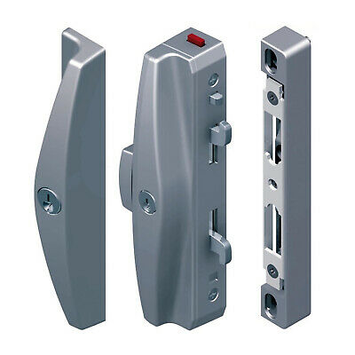 Lockwood Onyx Sliding Patio Door Lock 9A3A2/5PSIL Slim Inner & Outer Pull Silver