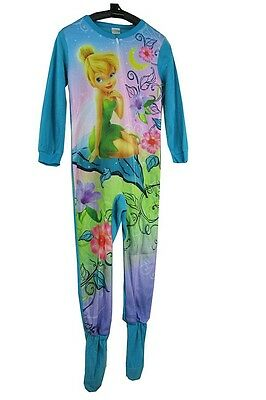 J60  Size 6 7 8 10 12 14 Tinkerbell One Piece Footed Pyjamas Sleepsuit Sleepwear