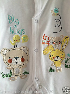 New Baby  Baby Grows / Baby Sleepsuit / Romper suit   with applque little hug