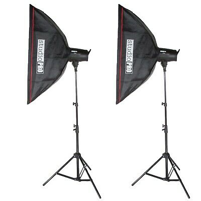 StudioPRO Studio Photo 2x 400Ws Monolight Flash Strobe Light Bowen Softbox Kit