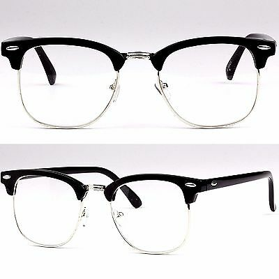 Clubmaster Clear Lens Glasses Fashion Fancy Dress Prescription Frames