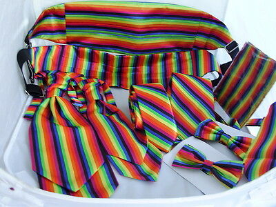 Multi-Rainbow Collection>Hankies-Bow tie-Ties-Waistcoats Cravats-Cummerbund+Sets