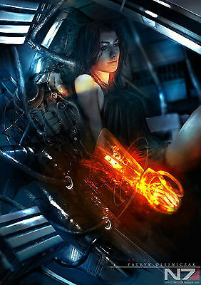 """Mass Effect 2 3 4 Game Fabric poster 36"""" x 24"""""""