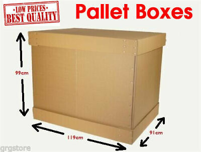 Pallet Cardborad Boxes for Storage and Shipping Large, Heavy Items Free Delivery