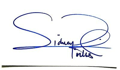 sidney Poitier signed autograph HUGE 4.5x8 inch card COA
