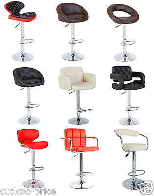 New Style PU Swivel Faux Leather Breakfast Kitchen Bar Stools Pub Barstools