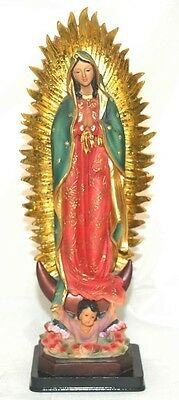 """15"""" Statue Our Lady of Guadalupe Figurine Virgin Mary Religious"""