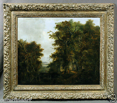 Dutch 19th Century Wooded Landscape Oil Painting signed M. A. Koekkoek